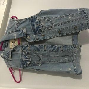 Hollister Jean Vest Jacket XS